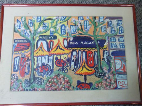 Matt Lamb (American, 1932-2012), Deux Magots, oil on canvas, signed and titled verso, 20th/21st century