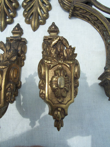 Neoclassical Style Gilt-Bronze Curtain Hardware, France, late 19th century, 62 pieces