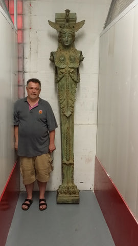 Pair of Bronze Art Nouveau Pillars, Croatia, ca. 1890