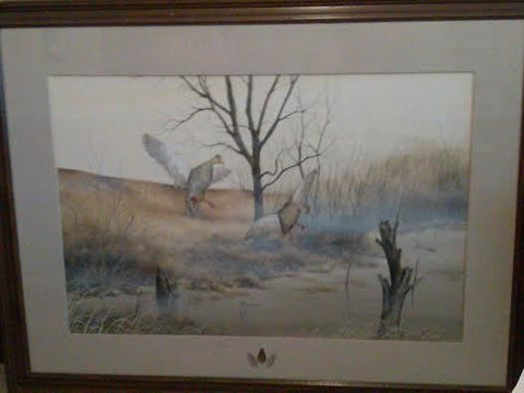 "Robert D. Gwynn, Jr. (20th/21st century), ""Black Ducks"", watercolor on paper, 20th century, signed"