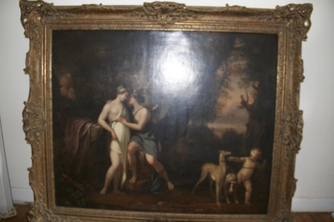 French School (18th Century), Jupiter and Callisto, oil on canvas