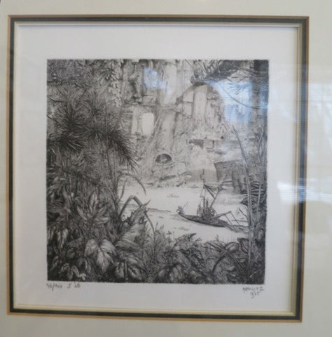 "Philippe Mohlitz (French, b. 1941), ""L'été"", engraving, signed, dated 1975 and numbered"