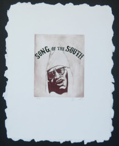 Travis Somerville (American, b. 1963), Song of the South, etching, signed, edition of 25, 2001