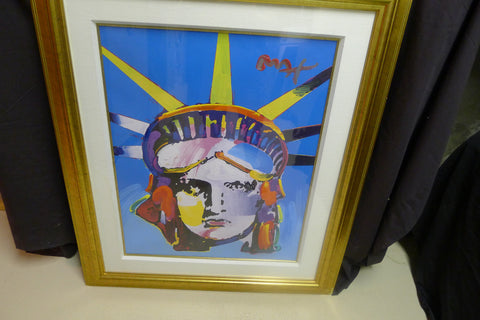 "Peter Max (American/German b. 1937), ""Delta"", 2006, mixed media on paper, signed"