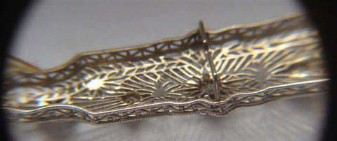 14K White Gold and Diamond Brooch, American, ca. 1920s