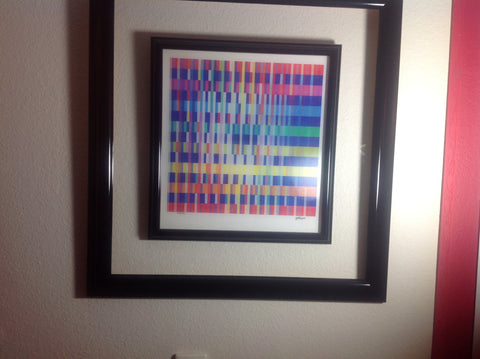 Yaacov Agam (Israeli, b. 1928), Out of the Black Hole, Agamograph, signed, numbered 1/25 HC, 1991