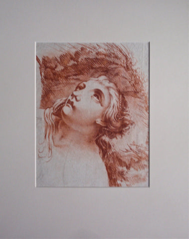 French School (18th Century), Study of a Woman's Head, contŽ crayon on laid paper