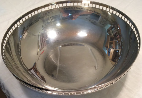 American Silver Plated Bowl. designed by Richard Meier, produced by Swid Powell, late 20th century