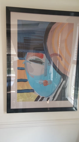 "Peter Max (American/German, 1937) ""Deco Lady"", lithograph in colors, 1987, signed and numbered"