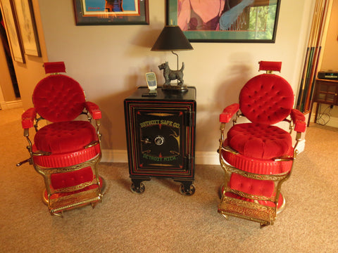 Matching Pair of Koken Barber Chairs