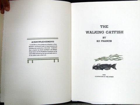 Ke Francis (American, b. 1945), Jugline: A Fish Tale and a portfolio of prints incl. 'The Walking Catfish', 1992