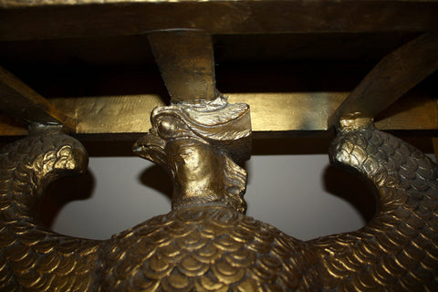 George II Style Eagle Motif Giltwood Console Table, In the style of William Kent, late 19th or early 20th cenury
