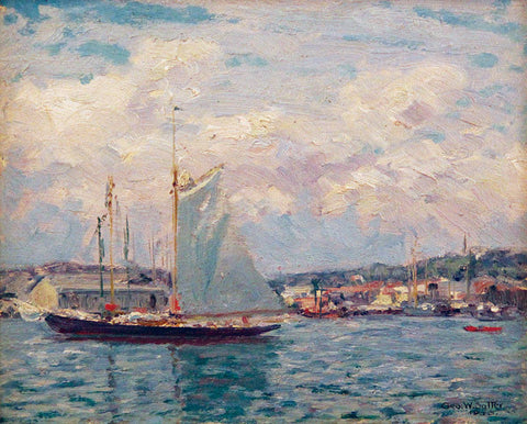 George William Sotter (American, 1879 - 1953), Noon Hour in the Harbor, oil on canvas, signed and dated
