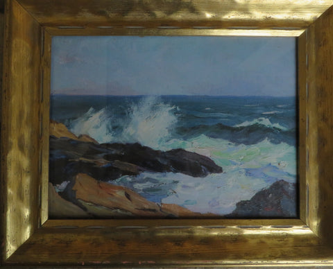 Stanley W. Woodward (American, 1890-1970), Coastal Rocks, oil on canvas, signed, ca.1930s