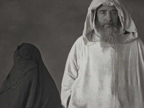 "Irving Penn (American, 1917-2009), ""Man in White, Woman in Black (Morocco)"", platinum palladium print, printed 1978"