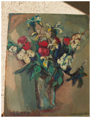Rose Kuper (Latvian/American, 1888-1987), Still Life with Roses, oil on canvas, signed and dated 1960