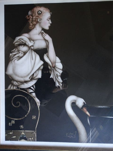 Michael Parkes (American, b. 1944), Beatrice Alone, lithograph in colors, signed and numbered 164/300