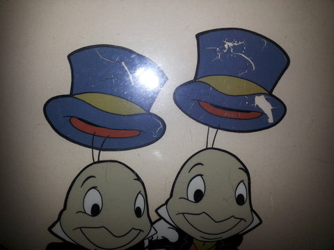 Pinocchio Jiminy Cricket Production Cel, 20th century