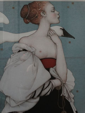 Michael Parkes (American, b. 1944), Pale Swan, lithograph in colors, signed and numbered 207/280