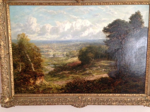 "George William Mote (British, 1832-1909), ""Reigate, Surrey"", oil on canvas, signed and dated 1887"