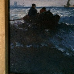 American School, early 20th Century Seascape, unsigned, oil on canvas, framed