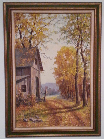 "Dwight F. Steininger (American, 1910-1997), ""September's Golden Glow"", oil on canvas, signed, 20th century"