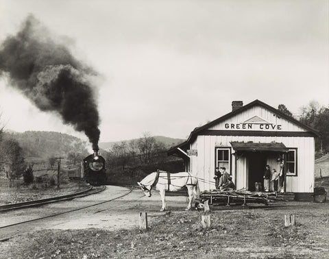 "O. Winston Link (American, 1914-2001), ""Maud Bows to Virginia Creeper, Green Cove, Virginia"", gelatin silver print"