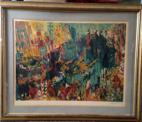 "Leroy Neiman (American, 1921-2012), ""Regatta of the Gondoliers"", color screenprint on wove paper, signed, AP, 1978"