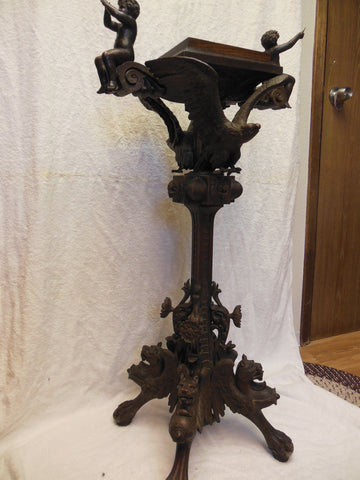 Continental Carved Oak Lectern, late 19th century
