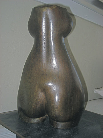 James Stoval (American, 20th/21st century), Female Torso, patinated bronze sculpture, circa 1980s