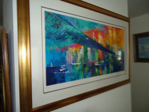 "LeRoy Neiman (American, 1927-2012) ""Brooklyn Bridge"", 1995, serigraph in colors, signed and numbered ""344/450"""