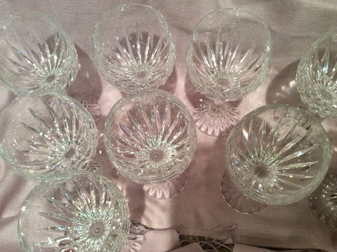 Set of Ten Baccarat Wine Glasses, France, late 20th century, in the Massena pattern