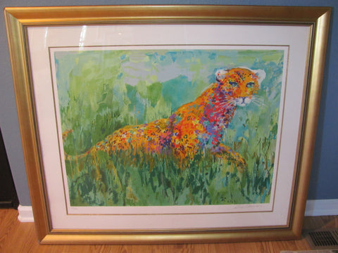 "Leroy Neiman (American, 1921-2012), ""Prowling Leopard"", screenprint in colors, signed and numbered 246/425, 2003"