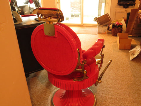 Two Matching Koken Barber Chairs, from the Palace Hotel in St. Louis, Mo., 19th century