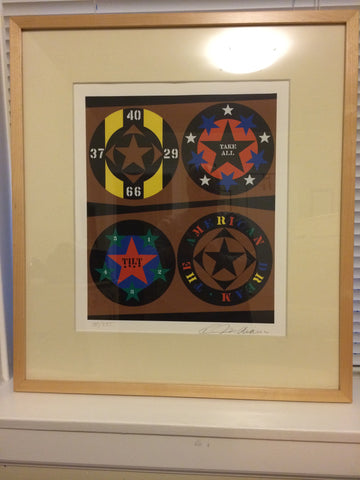 "Robert Indiana (American, b. 1928), ""Tilt"", screenprint in color, signed and dated 1997, numbered 100/395"