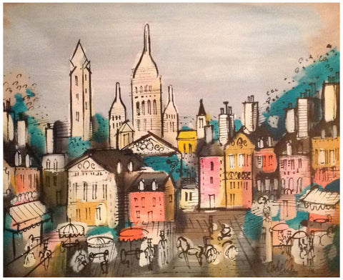 "Charles Cobelle (French, 1902-1998), ""View of Montmartre, 1960"", oil on canvas, signed and dated 1960"