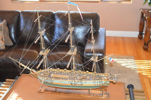Wooden Scale Model Ship of the Astrolabe, ca. late 20th century