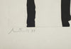 "Robert Motherwell (American, 1915-1991), Dutch Linen Suite V, 1974, lift-ground etching with aquatint, inscribed ""p. p."""