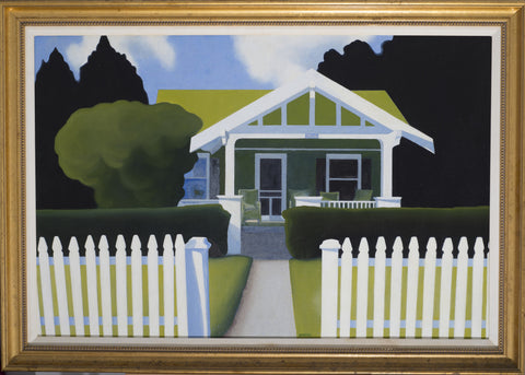 "John Haubrich (American, Contemporary), ""Welcome Home"", oil on canvas, signed, ca. 1990s"