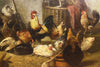 Bernard de Gempt (Dutch, 1826-1879), A Farmyard Gathering, oil on canvas, signed