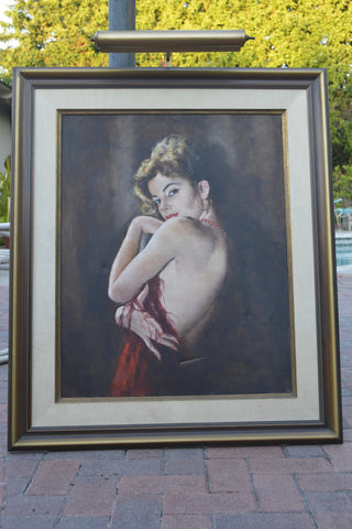 "Pá‡l Fried (Hungarian/American, 1893-1976) ,""Camilla"", oil on canvas, signed"