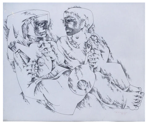 Jorge Dumas (Uruguayan, 1928-1985), Untitled, pen and ink on paper, signed and dated lower right