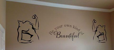 Wallstickers4you decals - customer used to decorate home gym!