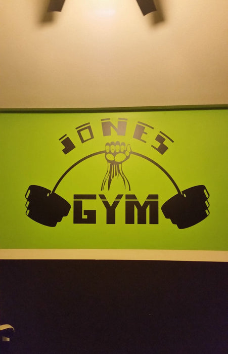 Awesome custom made wall sticker for home gym!