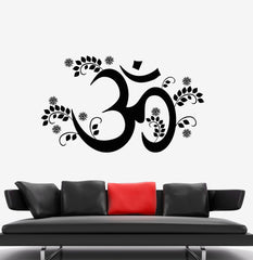 Vinyl Decal Om Yoga Mantra Hinduism Sanskrit Vedas Buddhism Wall Stickers Unique Gift (003ig)