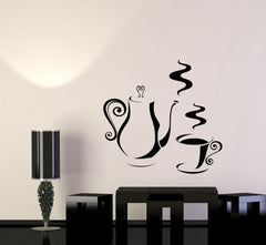 Vinyl Decal Kitchen Coffee Shop Tea Time Party Wall Sticker Mural Unique Gift (008ig)