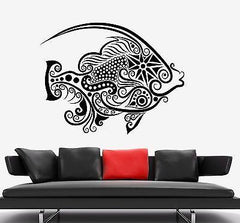 Wall Decal Fish Ocean Sea Ornament Tribal Mural Vinyl Decal Unique Gift (z3313)