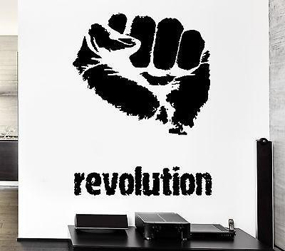 Wall Decal Revolution Anarchy Fight Club Street Fighter Cool Interior Unique Gift (z2718)