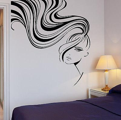 Wall Stickers Vinyl Decal Sexy Girl Hair Barber Salon Beauty Stylist (ig1709)