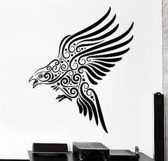 Wall Decal Eagle Bird Predator Ornament Tribal Mural Vinyl Decal Unique Gift (z3200)
